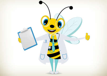 Illustration of Doctor Bee Vector