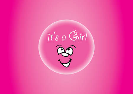 it s a girl: Pink It s a Girl illustration