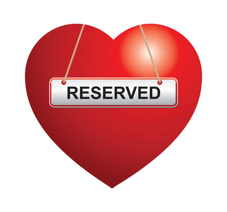 reserved: Heart shape with reserved sign