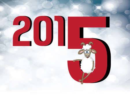 2015 Chinese New Year of the Goat design Illustration