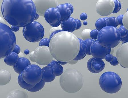 Three dimensional spheres flying randomly