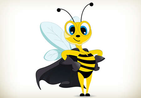 Illustration der Comic-Superhelden-Biene