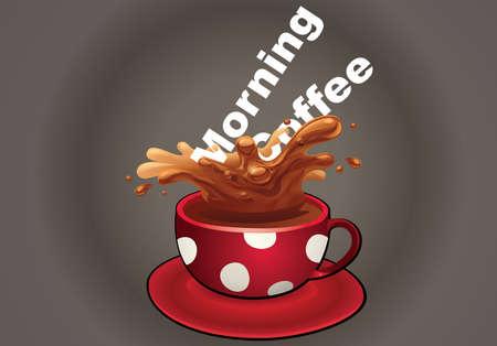 Illustration of morning coffee concept Illustration