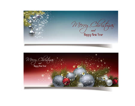 Illustration of christmas and new year banners