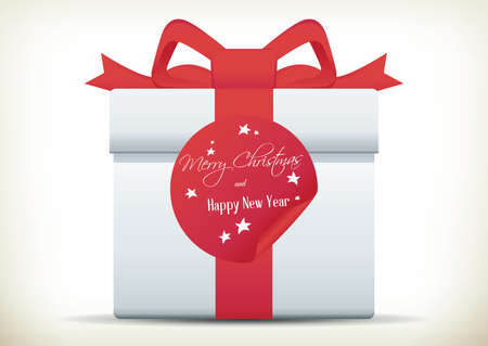 Illustration of christmas present package