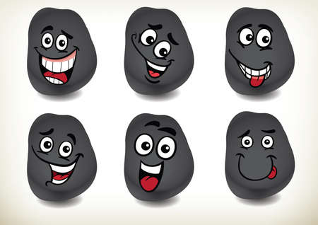 A set of 6 smilies.