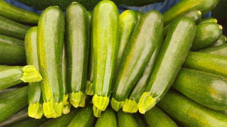 calabacin: calabacín verde Foto de archivo