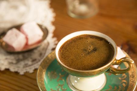turkish coffee on the table