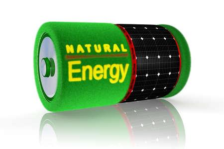 battery solar energy Stock Photo