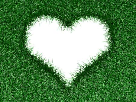cabizbajo: Forma de coraz�n en la hierba