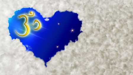Cloud Heart And Om Stock Photo - 6438853
