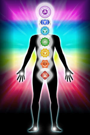 chakra aura Stock Photo - 9788297