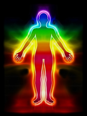 aura: chakra shape Stock Photo