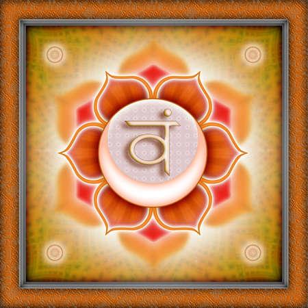 chakra: chakra svadhistana Banque d'images
