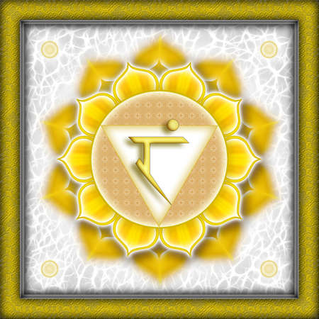 Chakra Manipura Yellow Stock Photo - 9788317