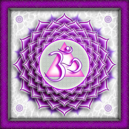 Chakra Sahasrara Purple photo