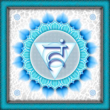 Chakra Vishuddha Light Blue Stock Photo