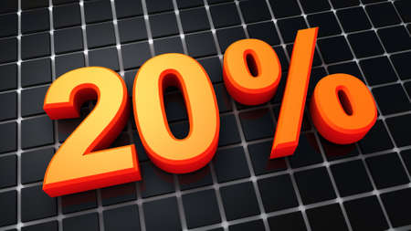 twenty percent and black background Stock Photo - 9912376