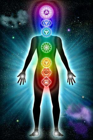 harmonizing: Spiritual Chakra Shape Stock Photo