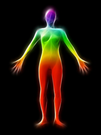 Chakra Aura Stock Photo