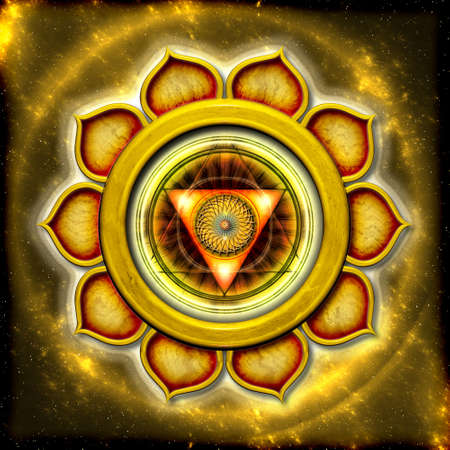 The Solar Plexus Chakra Stock Photo - 12931904