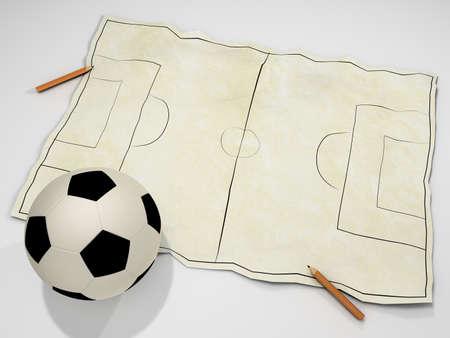 Football Field Sketch Stock Photo - 12931909