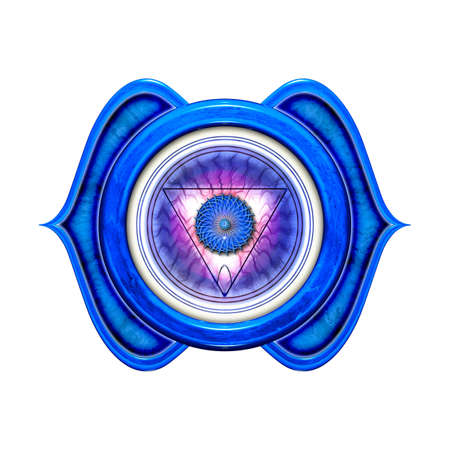 chakra: Le chakra frontal isol� Banque d'images