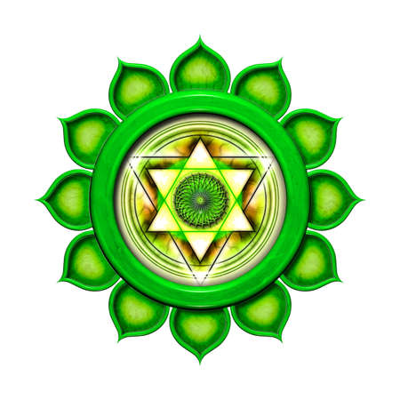 The Heart Chakra Isolated photo