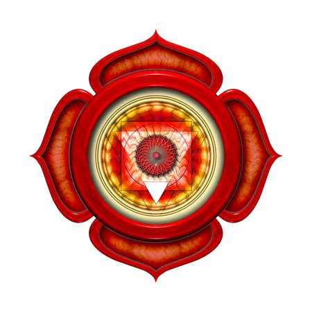 The Root Chakra Isolated Stock Photo - 13306561