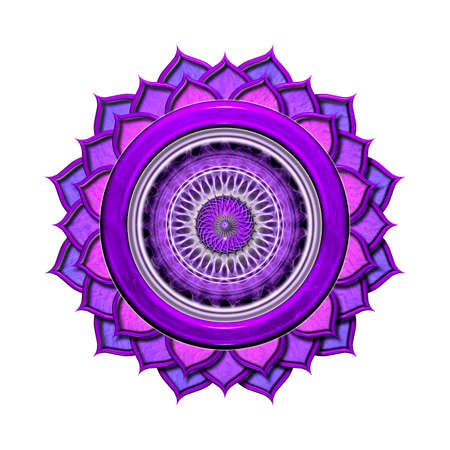 crown chakra: The Crown Chakra Isolated Stock Photo
