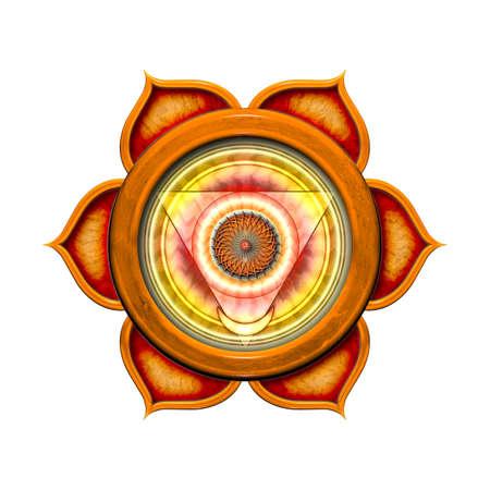 sacral: De Geïsoleerd Sacraal Chakra Stockfoto