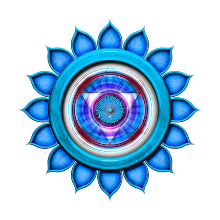 The Throat Chakra Isolated Stock Photo - 13306567