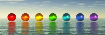 Chakra Spheres Stock Photo - 20069995