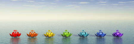 Chakra Lotus Stock Photo