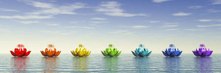 Chakra Lotus Stock Photo