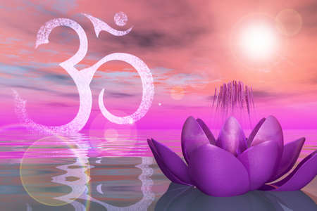 Holy Lotus On the Water Stock Photo - 20322949
