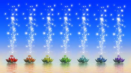magic lily: Chakra Lotus Stock Photo