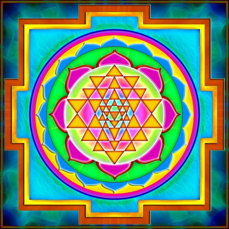 yantra: Shree Yantra Stock Photo