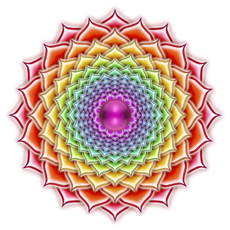 Thousandfold Blooming Lotus Mandala Stock Photo - 20886913