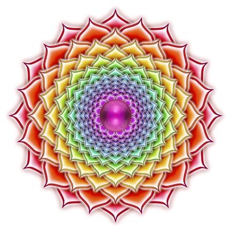 Thousandfold Blooming Lotus Mandala