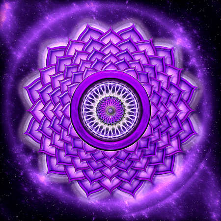 spiritual energy: Crown Chakra Stock Photo