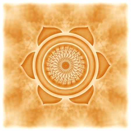 Mandala The Sacral Chakra Standard-Bild
