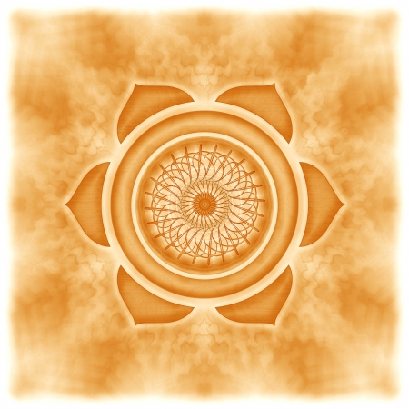 sacral: Mandala The Sacral Chakra Stock Photo