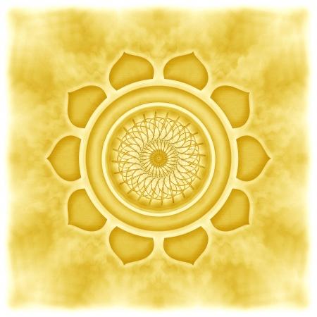 Mandala The Solarplexus Chakra Archivio Fotografico
