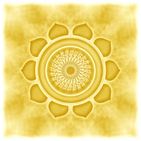 Mandala The Solarplexus Chakra Stock Photo - 23305636