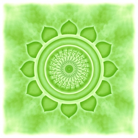 sacral: Mandala The Heart Chakra Stock Photo