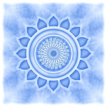 sacral: Mandala De Keel Chakra Stockfoto