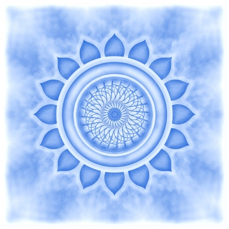 Mandala The Throat Chakra Stock Photo - 23305638