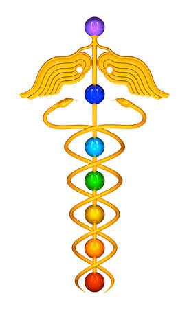caduceo: Caduceo Chakra Esferas
