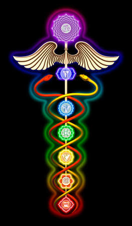 Caduceus Chakras Stock Photo - 24118581